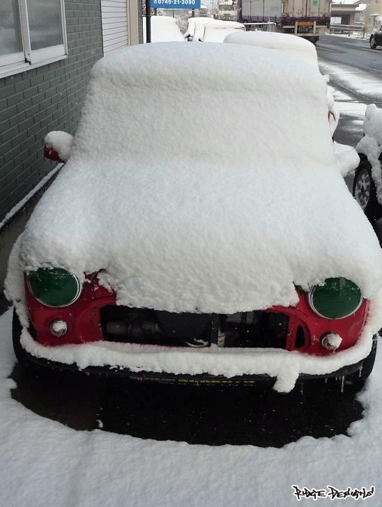 能登川で用事が済んだ頃には…約30㎝の積雪+真横からの吹雪 (2) by RIDGE DESIGNS